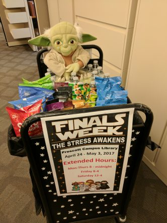 Finals week roving cart yoda